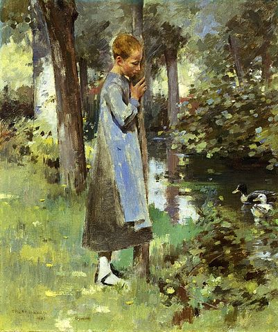 By the River - Theodore Robinson