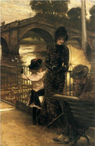 By the Thames at Richmond - James Tissot