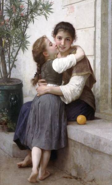 Calinerie (A Little Coaxing) - William Bouguereau