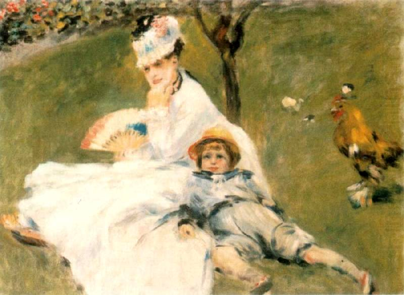 Camille Monet and her son - Pierre Auguste Renoir