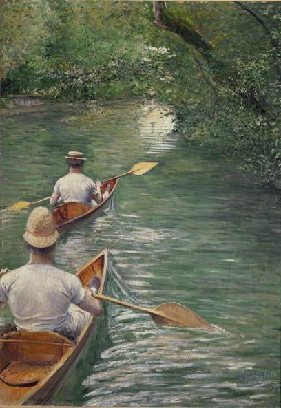 Canoes - Gustave Caillebotte