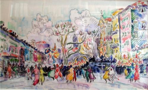Carnival at Nice - Paul Signac