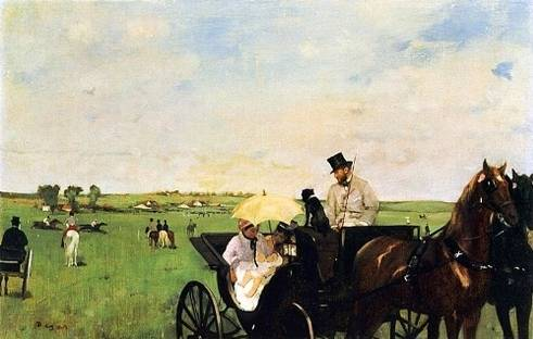 Carriage at the Races - Edgar Degas