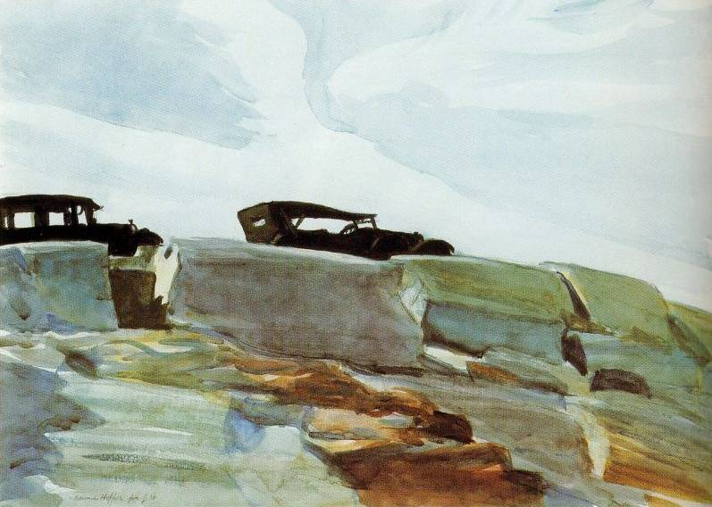 Cars and Rocks - Edward Hopper