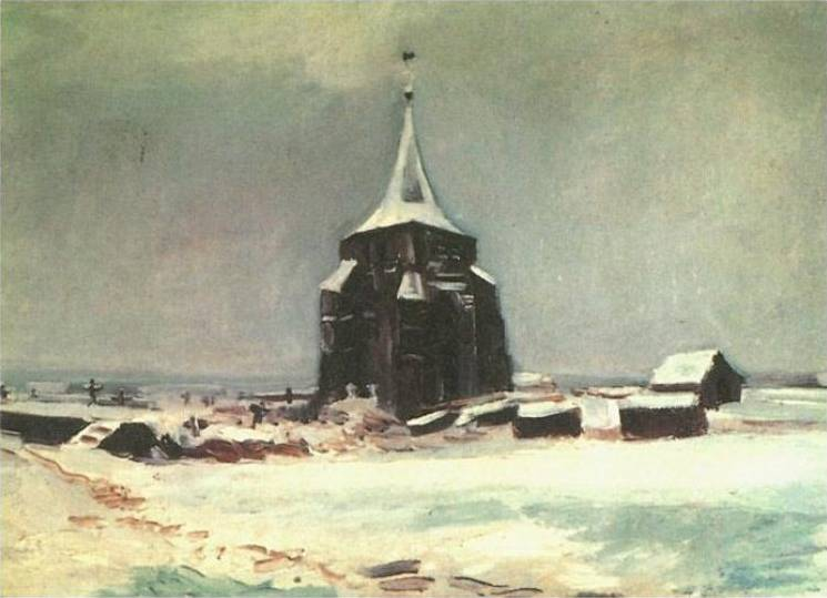 Cemetery Tower at Nuenen - Vincent van Gogh