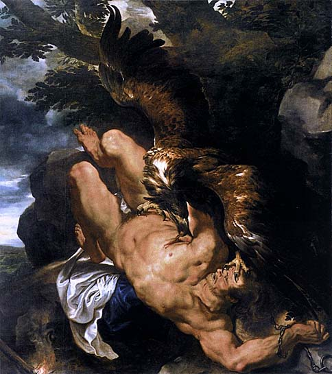 Chained Prometheus - Peter Paul Rubens