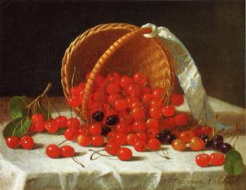 Cherries Spilling from a Basket - John F Francis