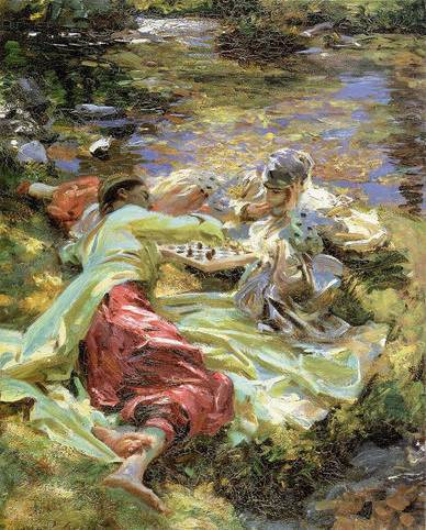Chess Game - John Singer Sargent