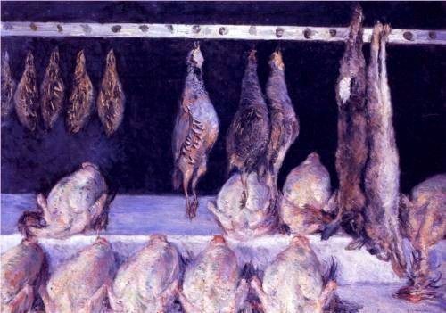 Chickens and Game Birds - Gustave Caillebotte