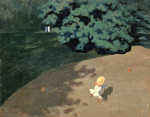 Child Playing Ball in the Park - Felix Vallotton