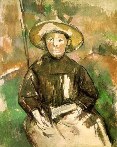 Child with Straw Hat - Paul Cezanne