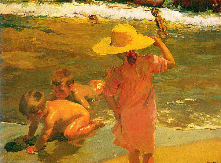 Children on the Seashore - Joaquin Sorolla
