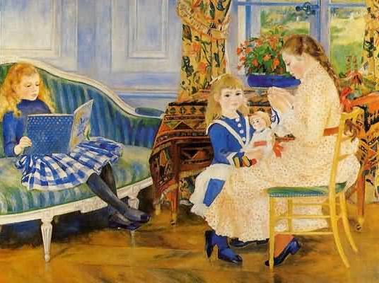 Children's Afternoon at Wargemont - Pierre Auguste Renoir