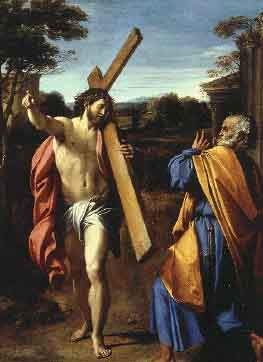 Christ Appearing to Saint Peter on the  Apian Way - Annibale Carracci
