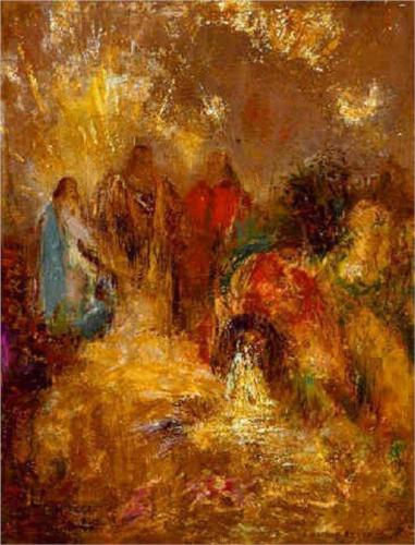 Christ and His Disciples - Odilon Redon