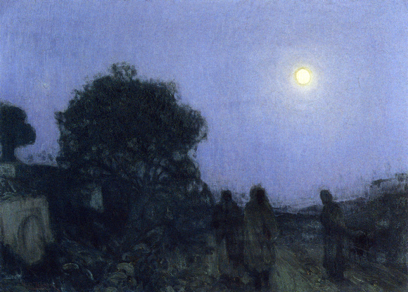 Christ and His Disciples on the Road to Bethany - Henry Ossawa Tanner