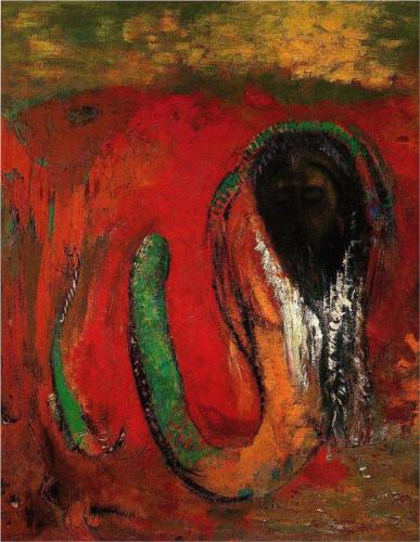Christ and the Serpent (Onnes) - Odilon Redon