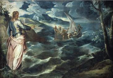 Christ at the Sea of Galilee - Jacopo Robusti Comin Tintoretto