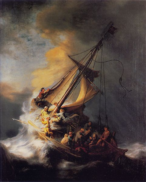 Christ in the Storm on the Sea of Galilee - Rembrandt van Rijn