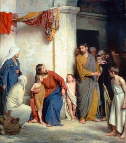 Christ with Children - Carl Bloch