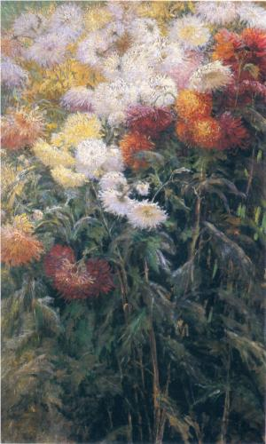 Chrysanthemums in the Garden at Petit Gennevilliers - Gustave Caillebotte