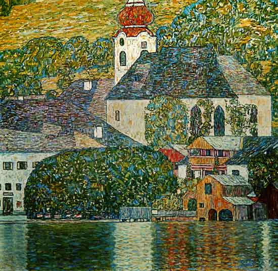 Church at Unterach - Gustav Klimt