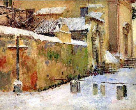 Church in Snow - Theodore Robinson