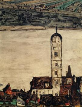 Church in Stein on the Danube - Egon Schiele