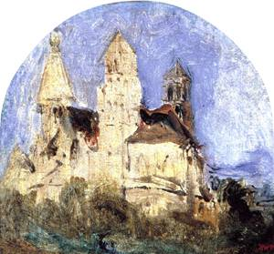Church of Saint Lou d'Esserant in the Oise - Theodore Rousseau