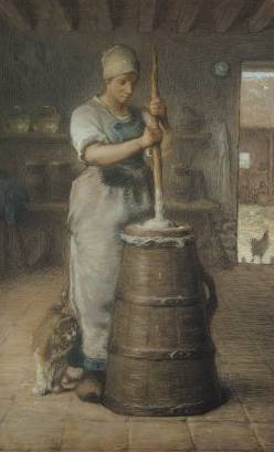 Churning Butter - Jean Francois Millet