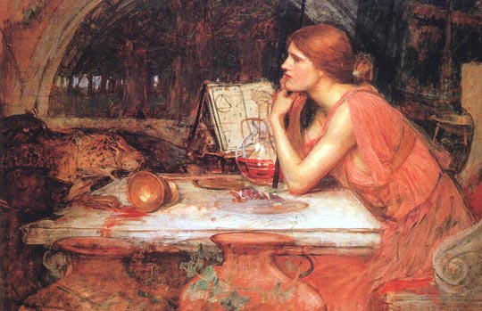 Circe (The Sorceress) - John William Waterhouse