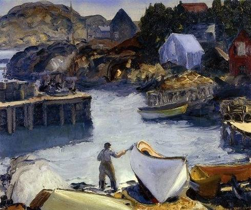 Cleaning His Lobster Boat - George Bellows