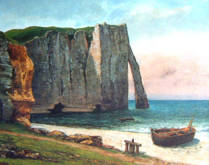 Cliff at Etretat - Gustave Courbet