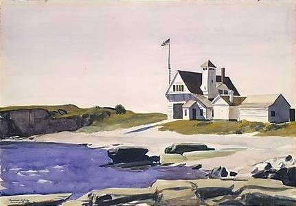 Coast Guard Station, Two Lights, Maine - Edward Hopper