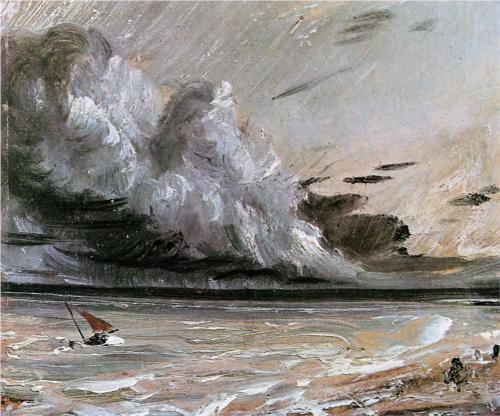 Coast Scene with Breaking Cloud - John Constable