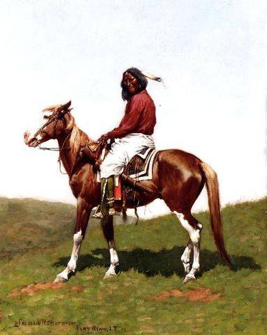 Comanche Brave, Fort Reno - Frederic Remington
