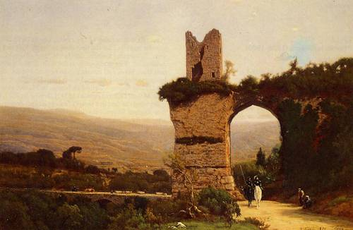 Commencement of the Galleria (Rome the Appian Way) - George Inness