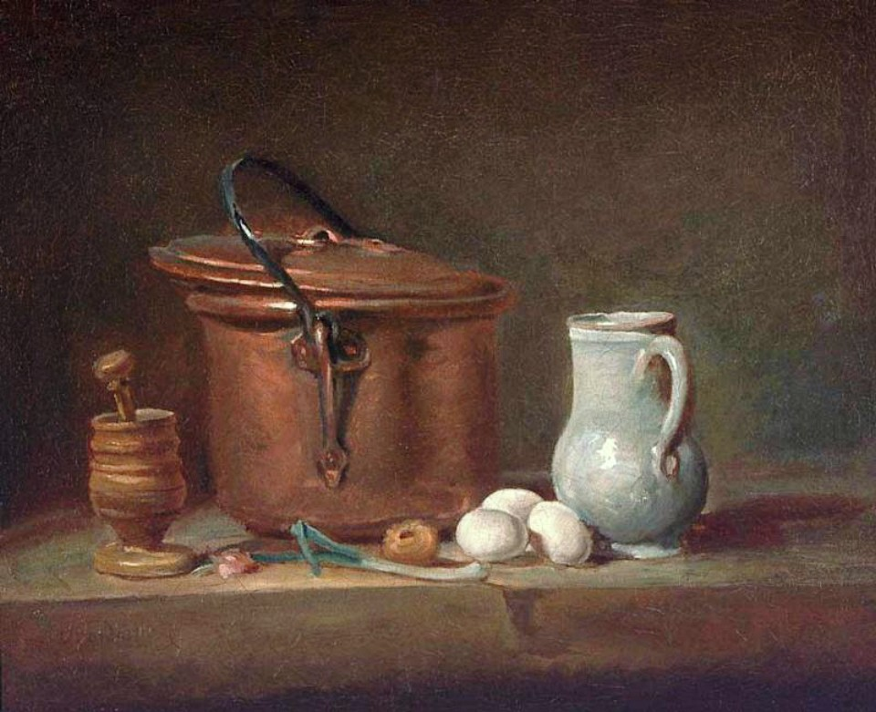 Copper Pan with Pestle & Mortar - Jean Baptiste Simeon Chardin
