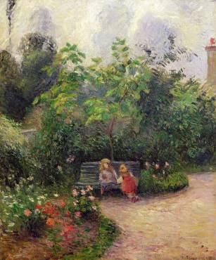 Corner of the Garden at the Hermitage, Pontoise - Camille Pissarro