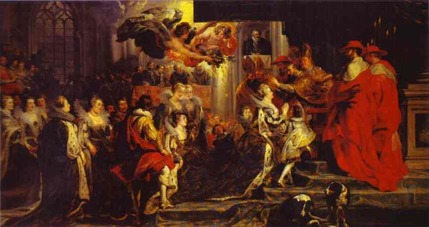 Coronation of Marie de' Medici - Peter Paul Rubens