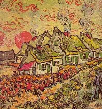 Cottages of the North - Vincent van Gogh