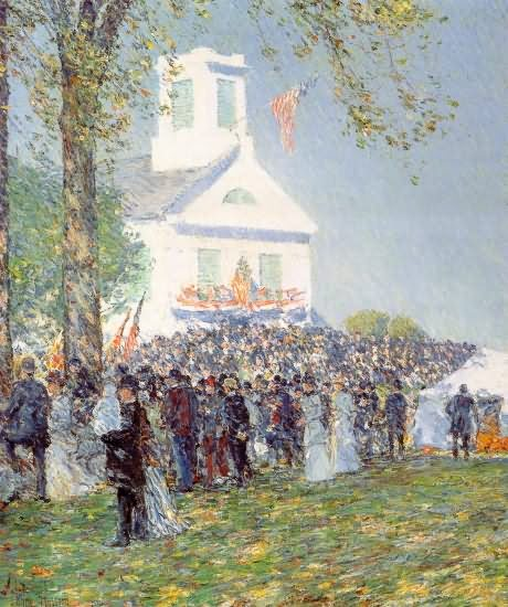 County Fair, New England - Childe Hassam