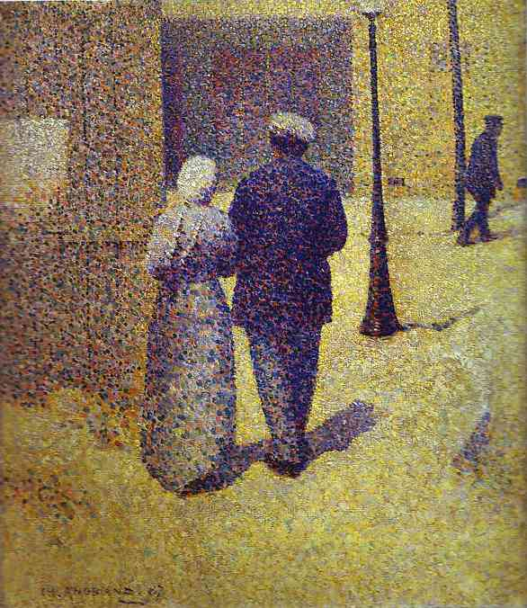 Couple in the Street - Charles Angrand