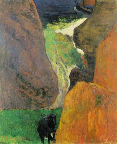 Cow on the Edge of a Cliff - Paul Gauguin