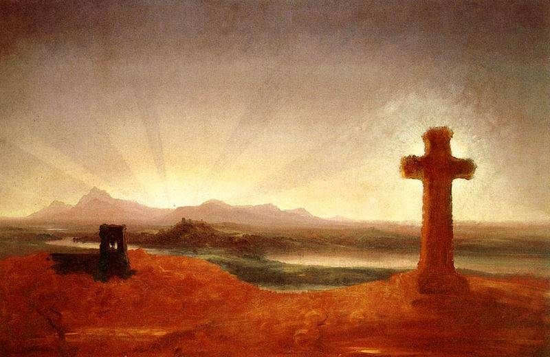 Cross at Sunset - Thomas Cole