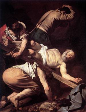 Crucifixion of Saint Peter - Caravaggio