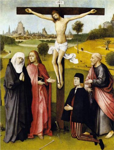 Crucifixion with a Donor - Hieronymus Bosch