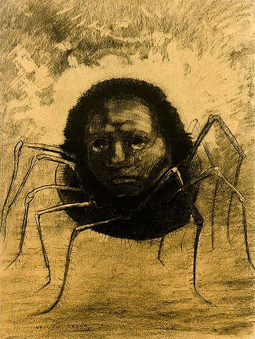 Crying Spider - Odilon Redon