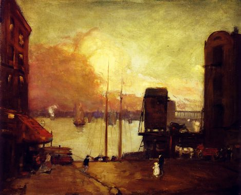 Cumulus Clouds on the East River - Robert Henri
