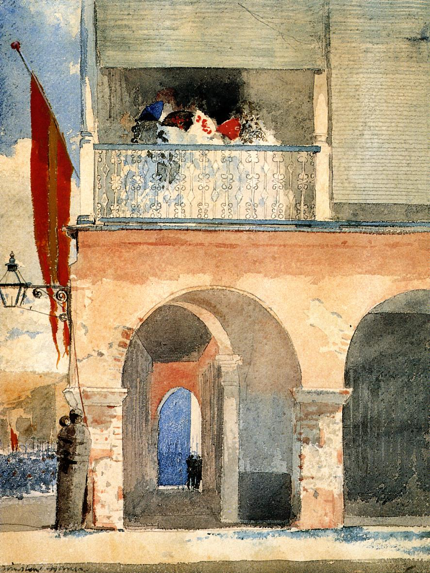 Customs House, Santiago de Cuba - Winslow Homer